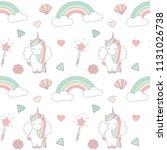 cute lovely magic seamless... | Shutterstock .eps vector #1131026738