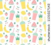 cute summer seamless vector... | Shutterstock .eps vector #1131027143