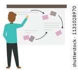 project manager at whiteboard     Shutterstock .eps vector #1131028970