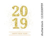 happy new year of glitter gold... | Shutterstock .eps vector #1131030959