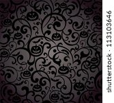 halloween background. ... | Shutterstock . vector #113103646