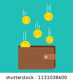 golden coins money flying in... | Shutterstock .eps vector #1131038600