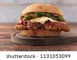 veal or chicken parmesan with... | Shutterstock . vector #1131053099
