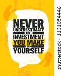 never underestimate the... | Shutterstock .eps vector #1131054446