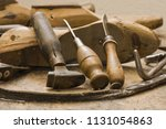 work tool lying on table | Shutterstock . vector #1131054863