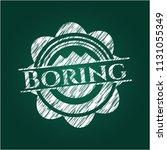boring chalk emblem | Shutterstock .eps vector #1131055349