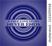 a true love story never ends... | Shutterstock .eps vector #1131055418