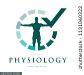 physiology vector logo icon | Shutterstock .eps vector #1131060323
