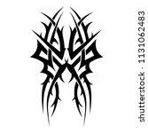 tribal tattoo symmetry pattern... | Shutterstock .eps vector #1131062483