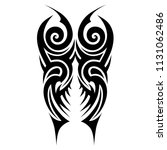 tribal pattern tattoos art... | Shutterstock .eps vector #1131062486