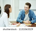 handsome smiling young man...   Shutterstock . vector #1131063329