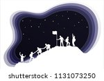 group of people helping each... | Shutterstock .eps vector #1131073250