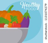 healthy food in bowl | Shutterstock .eps vector #1131074279