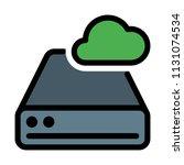 cloud disk drive | Shutterstock .eps vector #1131074534