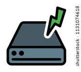 disk drive power | Shutterstock .eps vector #1131074618