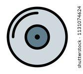 blank compact disk | Shutterstock .eps vector #1131074624