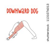 yoga pose  adho mukha...   Shutterstock .eps vector #1131076013