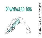 yoga pose  adho mukha...   Shutterstock .eps vector #1131076019