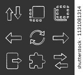 ui ux chalk icons set. vertical ...