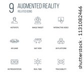 set of 9 augmented reality...