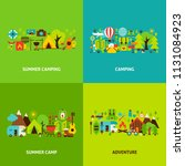 summer camping concepts set.... | Shutterstock .eps vector #1131084923
