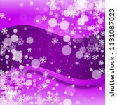 snow frame with ultra violet... | Shutterstock .eps vector #1131087023