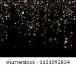 trendy gold star dust sparkle... | Shutterstock .eps vector #1131092834