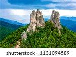mountain peak rocks landscape.... | Shutterstock . vector #1131094589