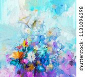 abstract floral oil color... | Shutterstock . vector #1131096398