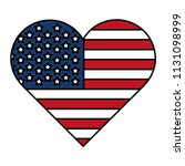 color heart usa flag nation... | Shutterstock .eps vector #1131098999