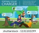 portable solar charger. solar...   Shutterstock .eps vector #1131102299