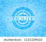 facility realistic sky blue...   Shutterstock .eps vector #1131109610