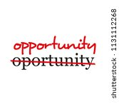 """opportunity"" text crossed out... 