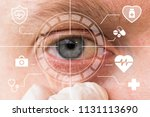 future man with cyber... | Shutterstock . vector #1131113690