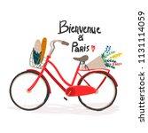 bienvenue   paris. hand drawn... | Shutterstock .eps vector #1131114059