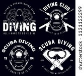 set of scuba diving club and... | Shutterstock .eps vector #1131123299