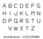 siple set of origami alphabet... | Shutterstock . vector #1131130484