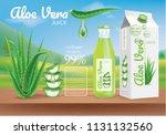 aloe vera package ads... | Shutterstock .eps vector #1131132560
