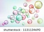 3d multicolored decorative... | Shutterstock .eps vector #1131134690