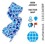 new jersey state map mosaic of... | Shutterstock .eps vector #1131136589