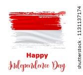 17 august  indonesia... | Shutterstock .eps vector #1131137174