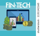 financial technology concept | Shutterstock .eps vector #1131142160