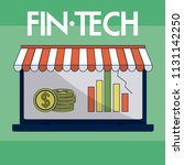 financial technology concept | Shutterstock .eps vector #1131142250