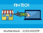 financial technology concept | Shutterstock .eps vector #1131142259