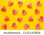 Heart Shaped Candy Pattern On A ...