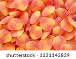full frame of heart shaped...   Shutterstock . vector #1131142829
