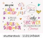 baby shower elements template... | Shutterstock .eps vector #1131145664