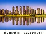 a high rise residence on the... | Shutterstock . vector #1131146954