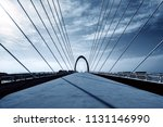 modern bridges and skyscrapers... | Shutterstock . vector #1131146990