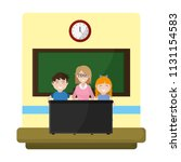 teacher explain students... | Shutterstock .eps vector #1131154583
